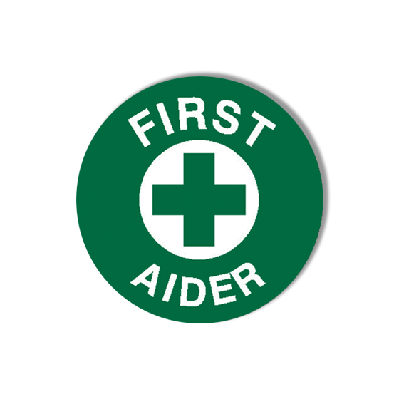 AeroSupplies First Aider Labels (Self-Stick Vinyl)>