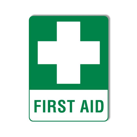 AeroSupplies First Aid Signs (Large Self-Stick Vinyl)>