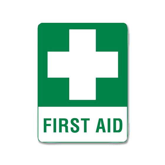 AeroSupplies First Aid Signs (Small Self-Stick Vinyl)>