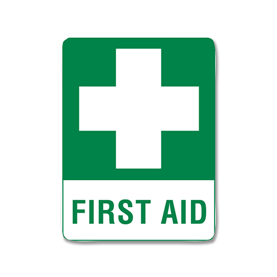 AeroSupplies First Aid Signs (Large Poly)>