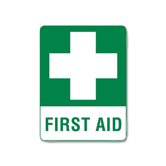 AeroSupplies First Aid Signs (Medium Metal)>