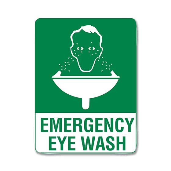 AeroSupplies Emergency Eye Wash Signs (Poly)>