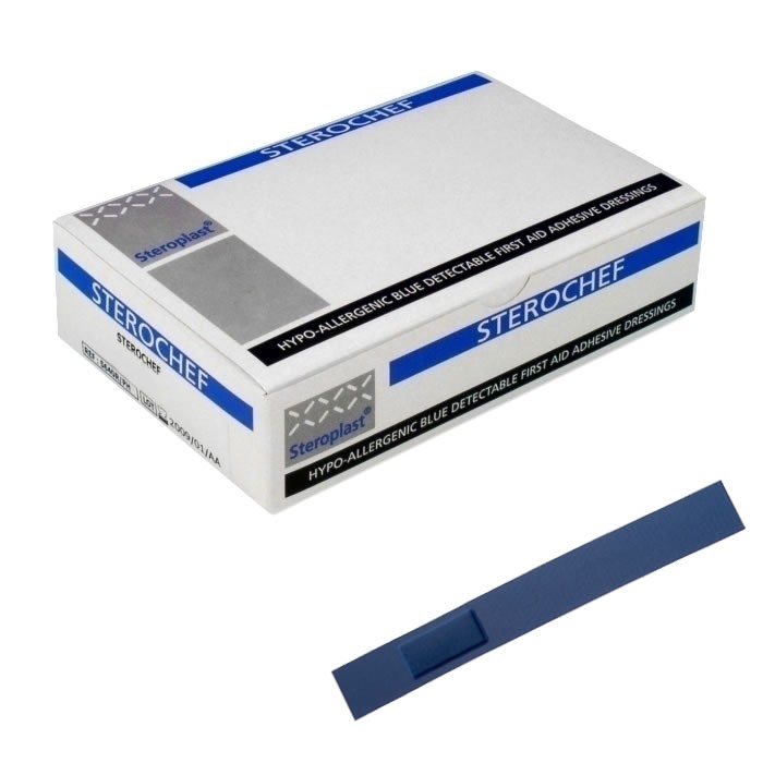 Steroplast – Sterochef Blue Detectable Bandages – Finger Extension Plasters>