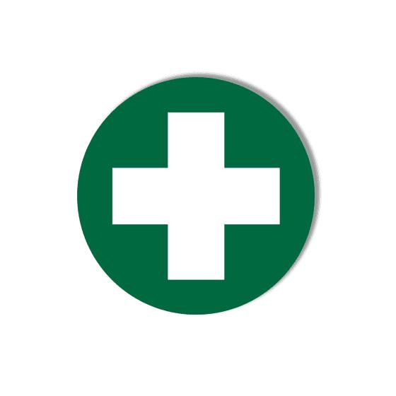 AeroSupplies First Aid Labels (Self-Stick Vinyl)>