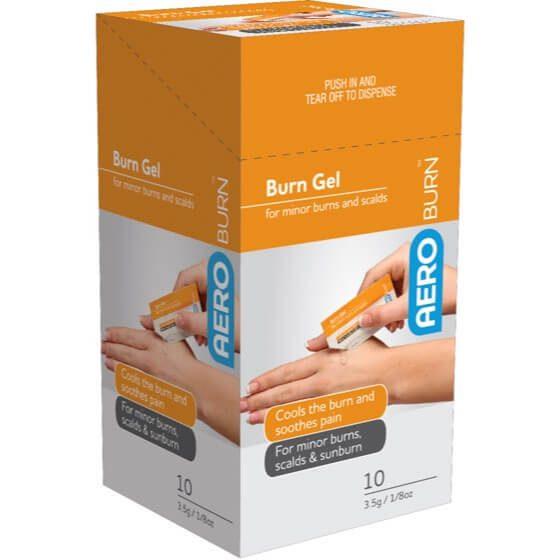 AeroBurn Burn Gel Sachets 3.5g x 10>