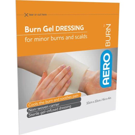 AeroBurn Burn Gel-Infused Dressings 10cm x 10cm>