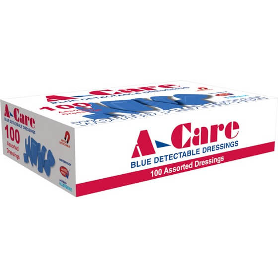 A-Care Detectable Bandages – Assorted Dressings>