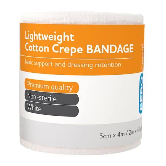 AeroCrepe Light Cotton Crepe Bandages 5cm x 4m>
