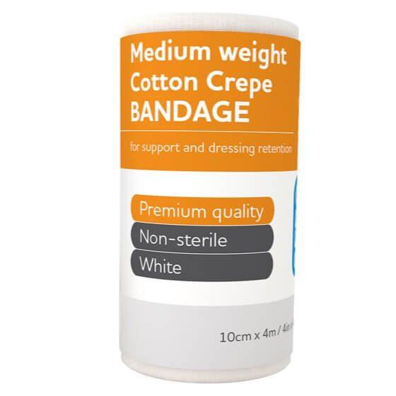 AeroCrepe Medium Cotton Crepe Bandages 10cm x 4m>