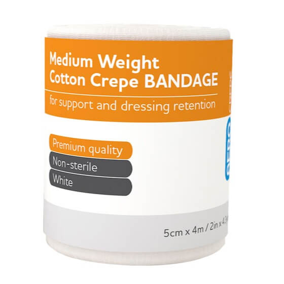 AeroCrepe Medium Cotton Crepe Bandages 5cm x 4m>