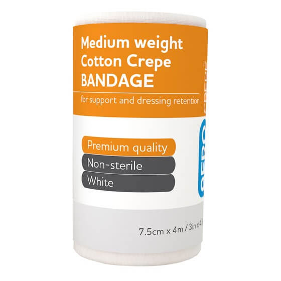 AeroCrepe Medium Cotton Crepe Bandages 7.5cm x 4m>