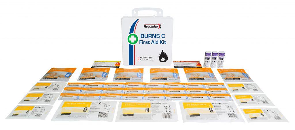 Aerokit AFAKBNC Responder Burns kit case and contents