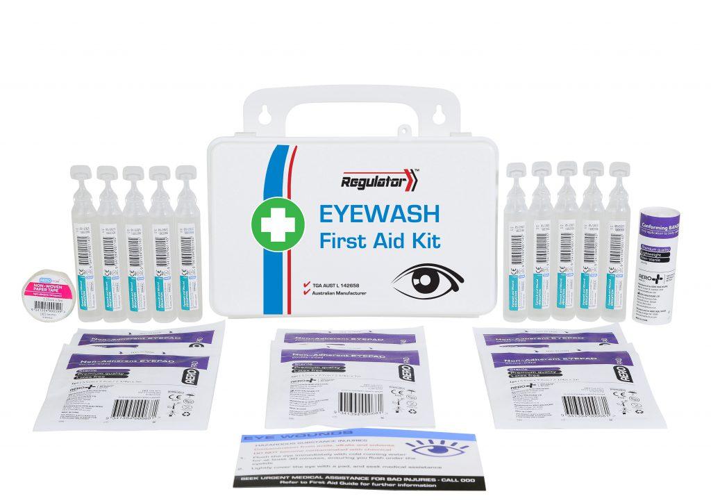 Aerokit AFAKEW Responder Eyewash kit case and contents