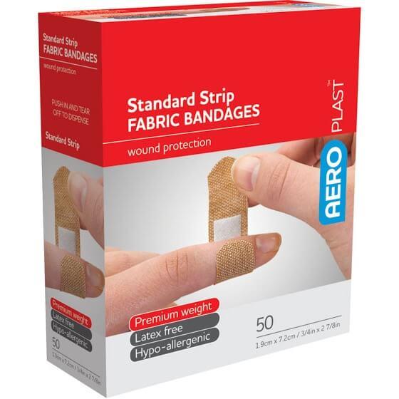 AeroPlast Premium Fabric Bandages – Standard Strip x 50>