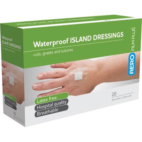 AeroFilm Plus Waterproof Island Film Dressings 4cm x 5cm Box/20>