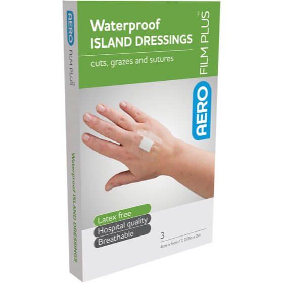AeroFilm Plus Waterproof Island Film Dressings 4cm x 5cm Env/3>
