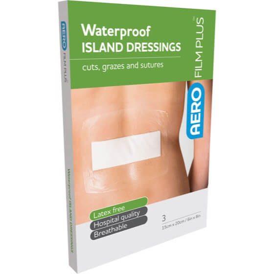 AeroFilm Plus Waterproof Island Film Dressings 15cm x 20cm Env/3>