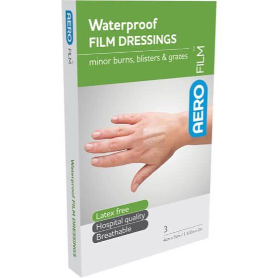 AeroFilm Waterproof Film Dressings 4cm x 5cm 3pk>
