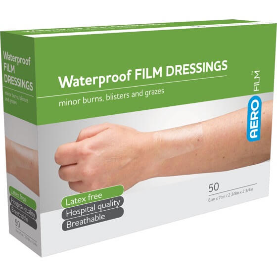 AeroFilm Waterproof Film Dressings 6cm x 7cm 50pk>