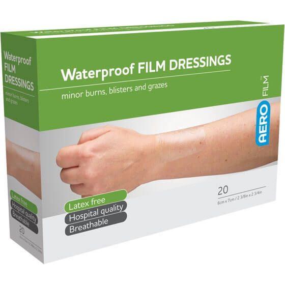 AeroFilm Waterproof Film Dressings 6cm x 7cm 20pk>