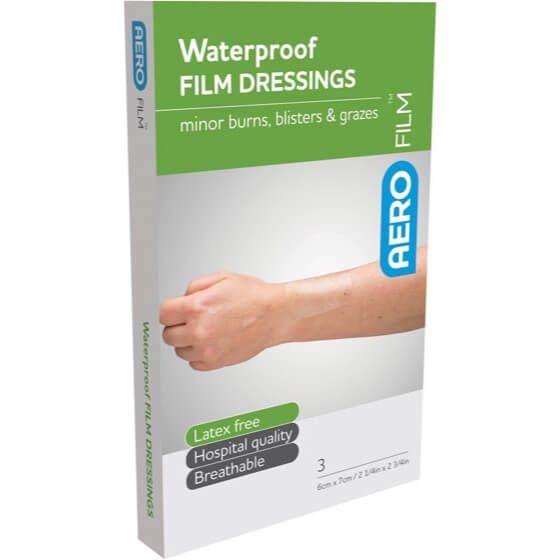 AeroFilm Waterproof Film Dressings 6cm x 7cm 3pk>