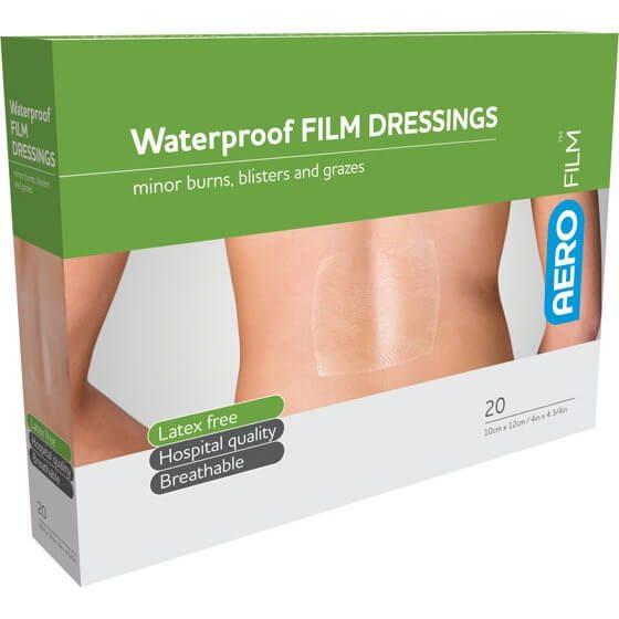 AeroFilm Waterproof Film Dressings 10cm x 12cm 20pk>