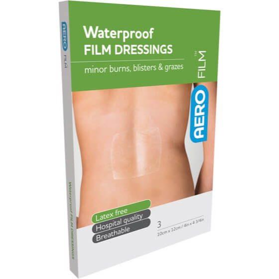 AeroFilm Waterproof Film Dressings 10cm x 12cm 3pk>