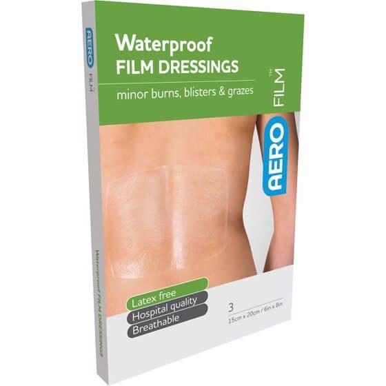 AeroFilm Waterproof Film Dressings 15cm x 20cm 3pk>