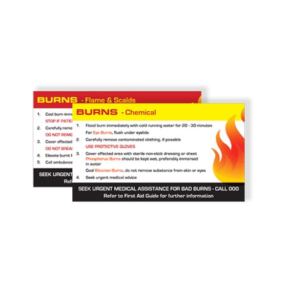 AeroGuide Burns First Aid Card>