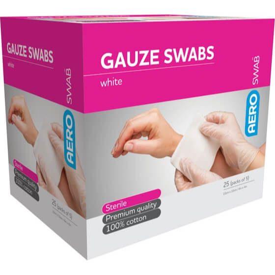 AeroSwab Sterile Gauze Swabs 5pcs 10cm x 10cm>