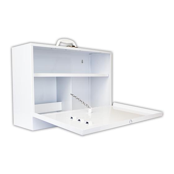 Metal Cabinets - Drop Front interior