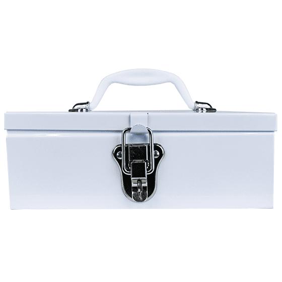 White Metal Cases / Tins (optional Tray) Medium>