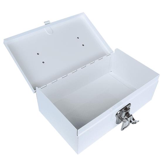 White Metal Cases / Tins (optional Tray) Medium_interior