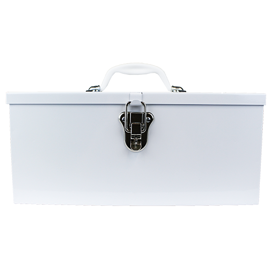 White Metal Cases / Tins (optional Tray) Large>