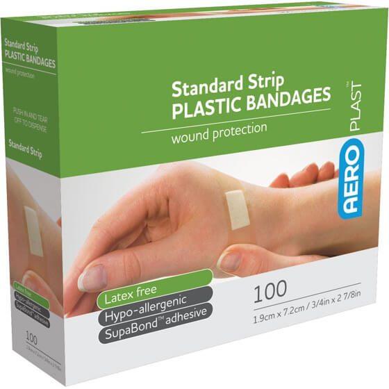 AeroPlast Plastic Bandages – Strips x 100>
