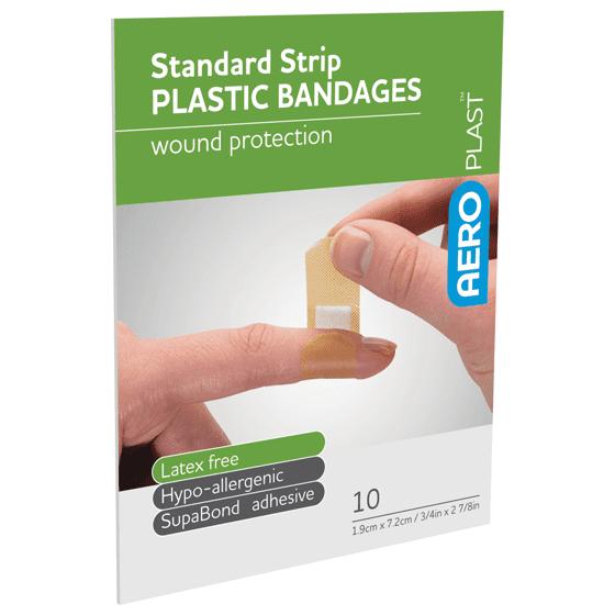 AeroPlast Plastic Bandages – Strips x 10>