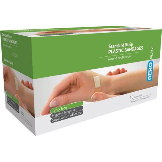 AeroPlast Plastic Bandages – Strips x 25>