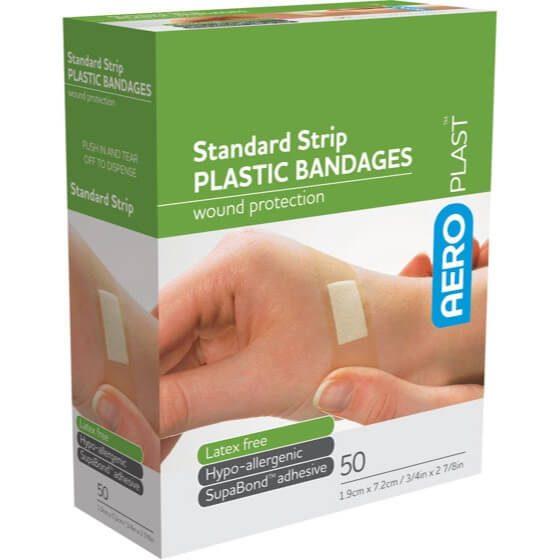 AeroPlast Plastic Bandages – Strips x 50>