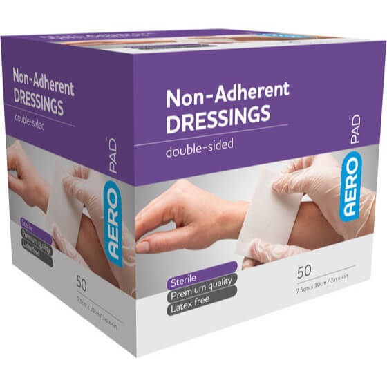 AeroPad Non-Adherent Dressing Pads 10cm x 7.5cm>