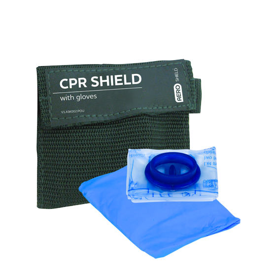 AeroShield Key Ring CPR Face Shield and Gloves>