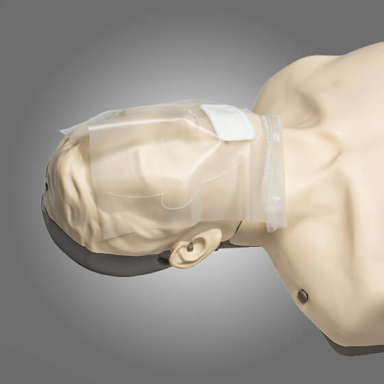 Application of the AeroShield CPR Manikin Faceshields