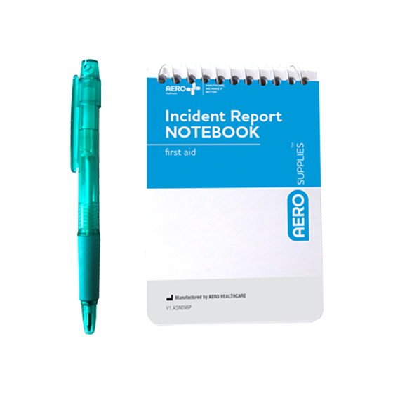 AeroGuide First Aid Notebook with Pen>