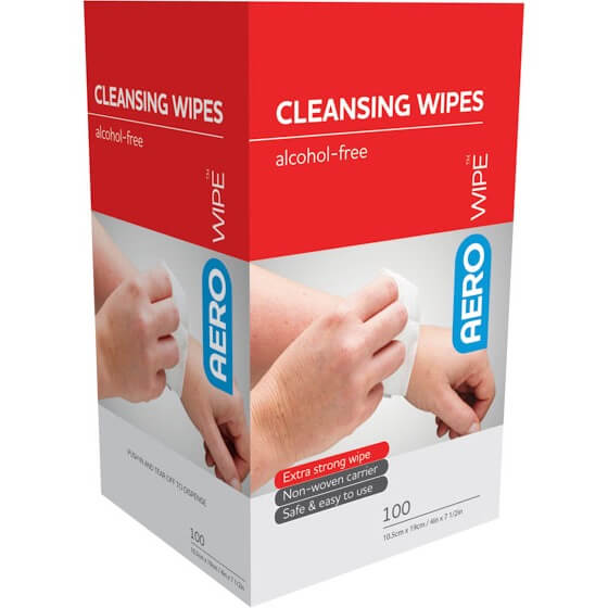 AeroWipe Alcohol-Free Cleansing Wipes box/100>