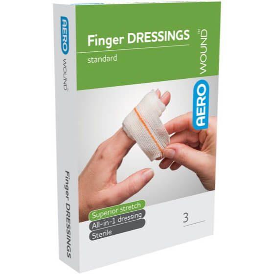 AeroWound Standard Finger Dressings 4.5cm x 4.5cm>