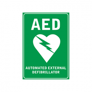 Wall Sticker AED Sign A4