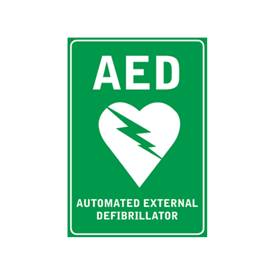 Wall Sticker AED Sign A4>