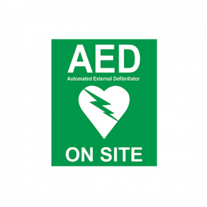 On Site AED Sticker