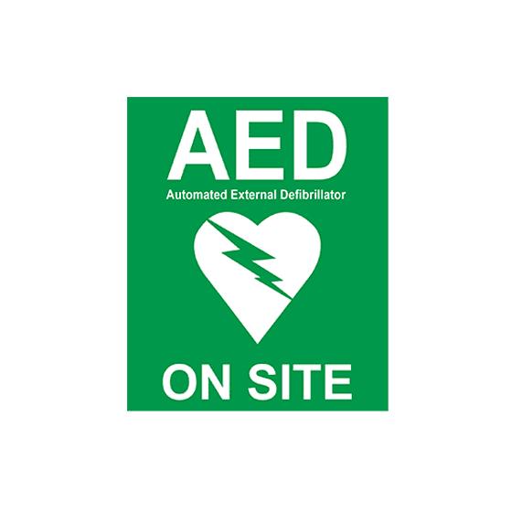 On Site AED Sticker>