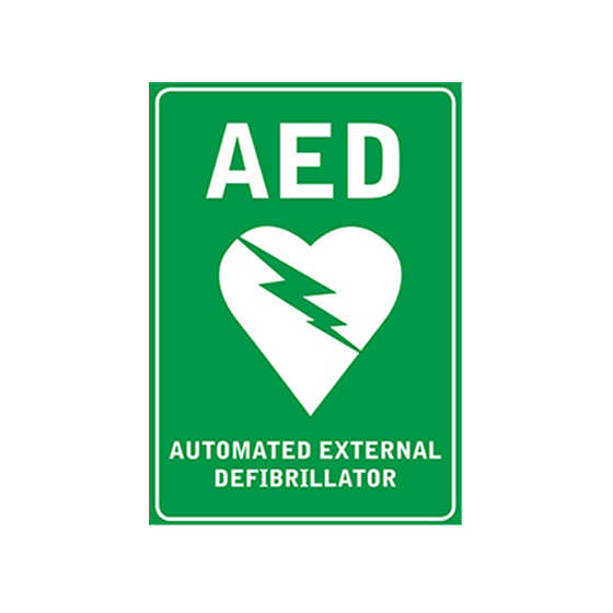 Poly AED Wall Sign>