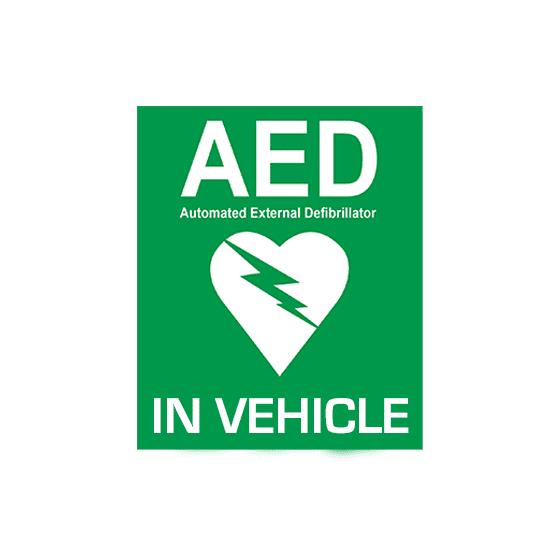 Vehicle AED Sticker>
